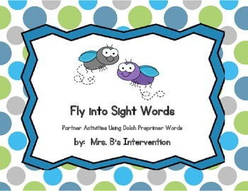 Sight Word Partner Activities (Dolch Pre-Primer)