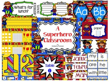 Fly Like a Superhero Classroom Decor