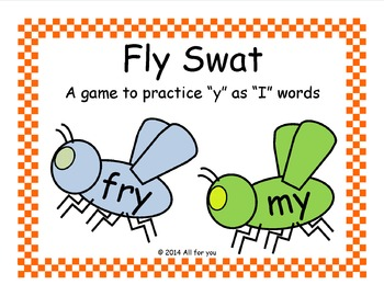 "Fly Swat - A ""y"" as ""I"" word game"