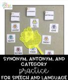 Fly Swat Speech - Synonyms, Antonyms, Categories