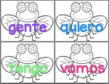 Fly Swat Words In Spanish