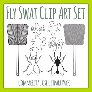 Fly Swats Clip Art Pack for Commercial Use