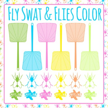 Fly Swats Color Clip Art Pack for Commercial Use