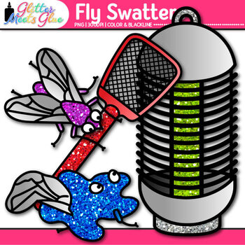 Fly Swatter Clip Art {Insect and Bug Graphics for Worksheets & Resources}