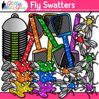 Fly Swatter Clip Art | Insect and Bug Graphics for Worksheets & Resources