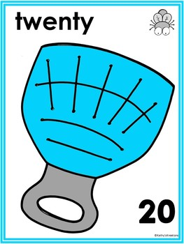 Fly Swatter Counting Mats 1-20