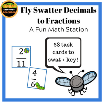 Fly Swatter Decimals to Fractions:  A Fun Math Station