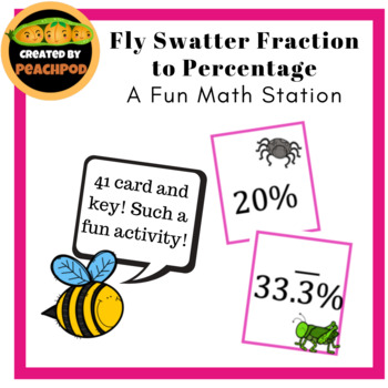 Fly Swatter Fraction to Percentage: A Fun Math Station