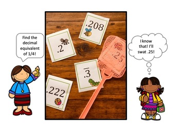Fly Swatter Fractions to Decimals: A Fun Math Station