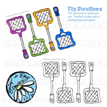 Fly Swatter - Line art and Color images