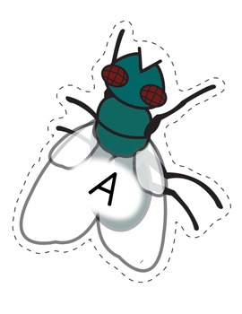 Alphabet - Fly Swatting Letters- Giant Flies