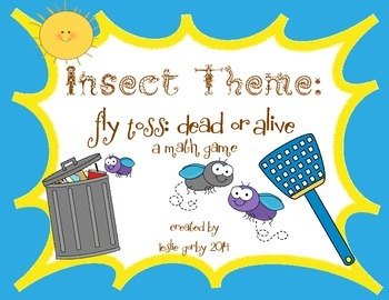Fly Toss: Dead or Alive Math Game! Insect/Bug Unit