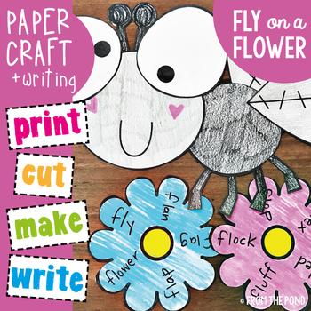 Fly on a Flower - Phonics Consonant Blend fl Craft