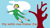 Fly with me Peter Pan, a catchy song  with a reggae beat,