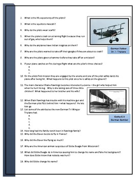 Flyboys Movie Questions