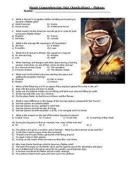 Flyboys Quiz