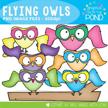 Flying Owl Clipart