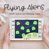 Flying Aliens Speech Therapy Activity: BOOM Cards for Earl