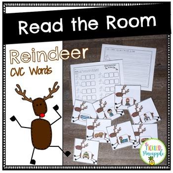 Read the Room: reindeer cvc words
