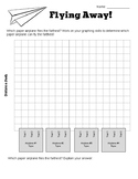 STEM - Flying Away! Paper Airplane Data Collection - Back to School Activity