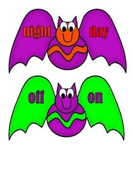 "Antonym Puzzles ""Flying Bats"""