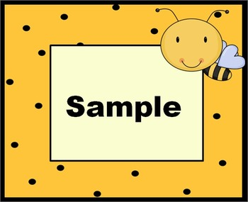 Flying Bees Labels