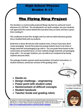 Flying Cardboard Ring Design Project - based on the Aerobie
