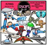 Flying Clip Art Bundle {Educlips Clipart}