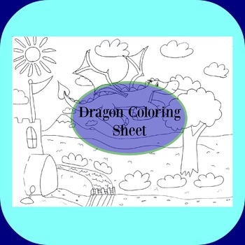 Flying Dragon Coloring Sheet