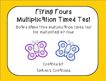 Flying Fours Multiplication Timed Test