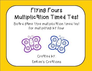 Flying Fours Multiplication Timed Test