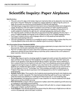 COMPLETE- 5-day Scientific Inquiry Lesson Plan Sequence