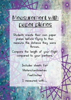 Flying Fun With Paper Planes - Measurement