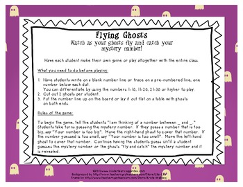 Flying Ghosts Math Game