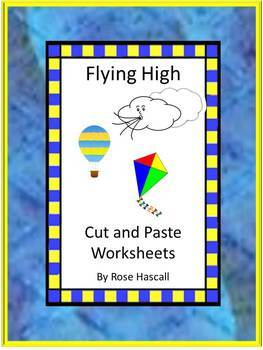 Kites Kindergarten Special Education Autism Cut and Paste Fine Motor