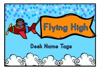 Flying High Desk Labels