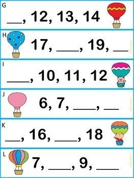 Flying High- Hot Air Balloons Number Sense
