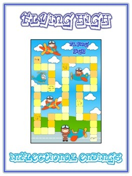 Flying High Inflectional Word Endings - ELA First Grade Game - Word Work Center