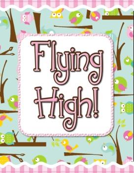 Flying High Owl/Bird Bulletin Board Set