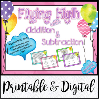 Flying High with 3rd Grade Addition & Subtraction: TEKS 3.4A ; CCSS: 3.NBT.A.2