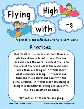 Flying High with -s - A Plural -s and Action -s Sort