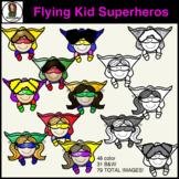 Flying Kids Superhero Clipart