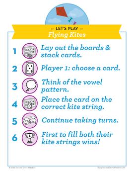 Flying Kites Short i / CVCe i Phonics Game - Words Their Way Game