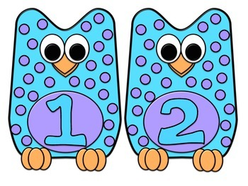 Flying Owl Number Sense Matching Game