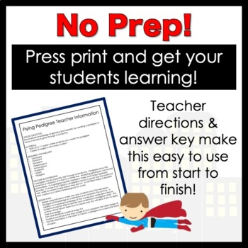 Flying Pedigree Worksheet by Classroom 214 | Teachers Pay Teachers