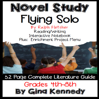 Flying Solo Novel Study & Enrichment Project Menu