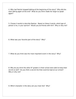 """""""Flying Solo"""", by R. Fletcher, Comprehension Questions & Test"""