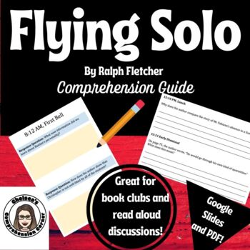 Flying Solo by Ralph Fletcher Comprehension Packet