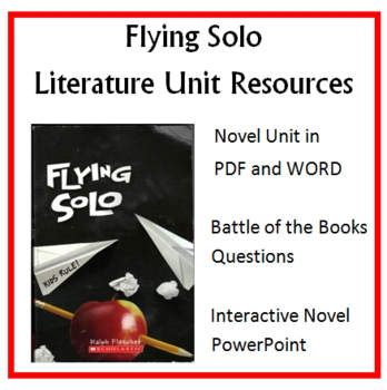 """""""Flying Solo"""", by Ralph Fletcher, Entire Unit of Resources on CD"""