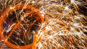 Flying Sparks Stock Photo ~ Commercial Use